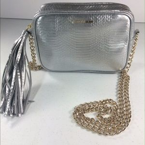 Victoria's Secret silver Crossbody with tassel 💕